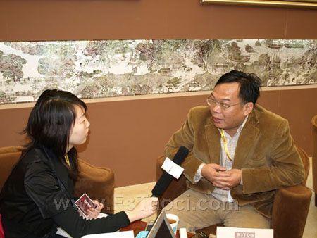 上海陶瓷卫浴展 访金意陶董事长兼总经理何乾先生